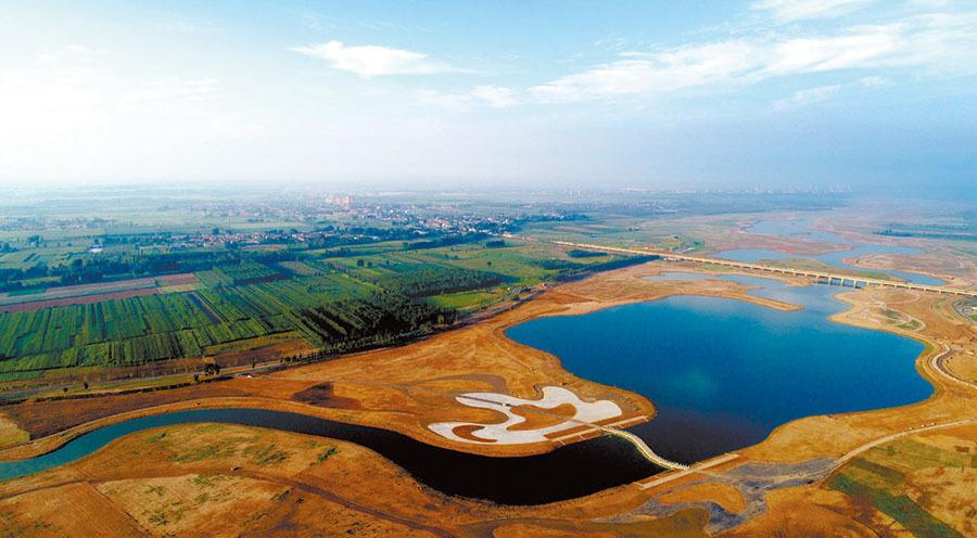 滹沱河生态修复二期工程如期完工
